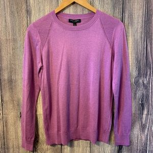 Banana Republic Purple Silk Cotton Long Sleeve